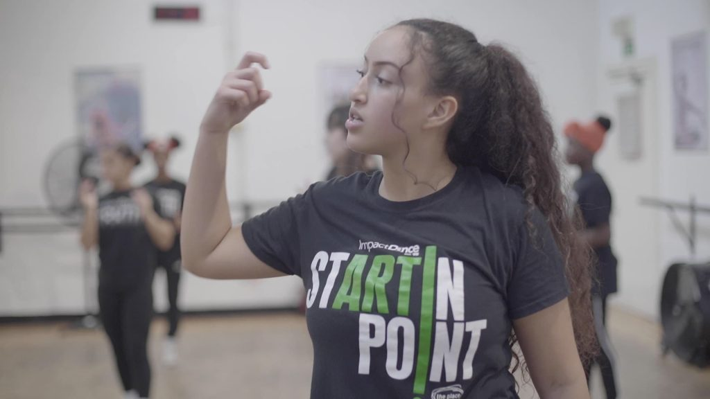 impact academy with startin point t-shirt